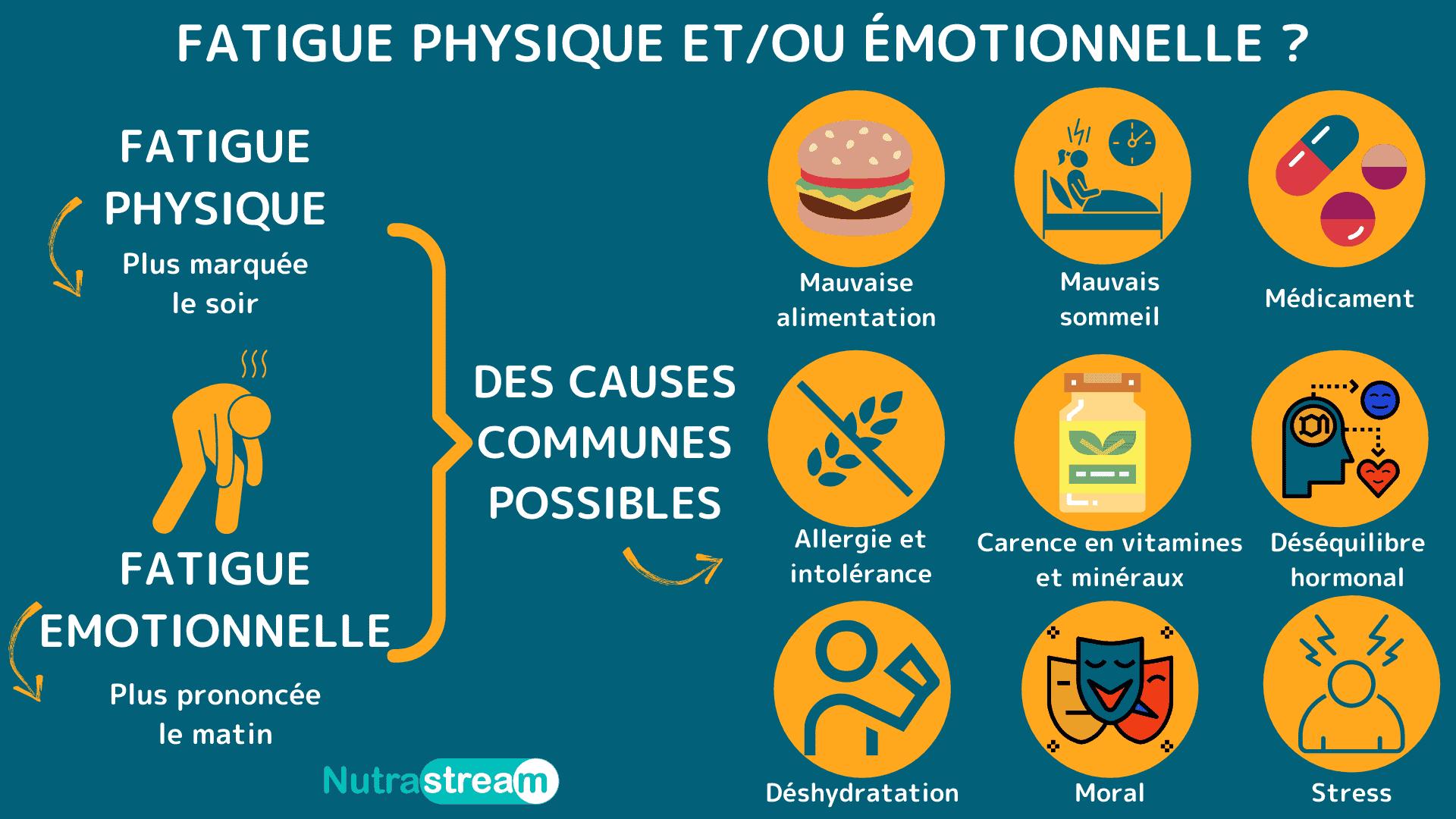 Quelle soit physique ou émotionnelle, la fatigue doit être comprise pour agir sur les causes qui sont communes à ces deux types de fatigue