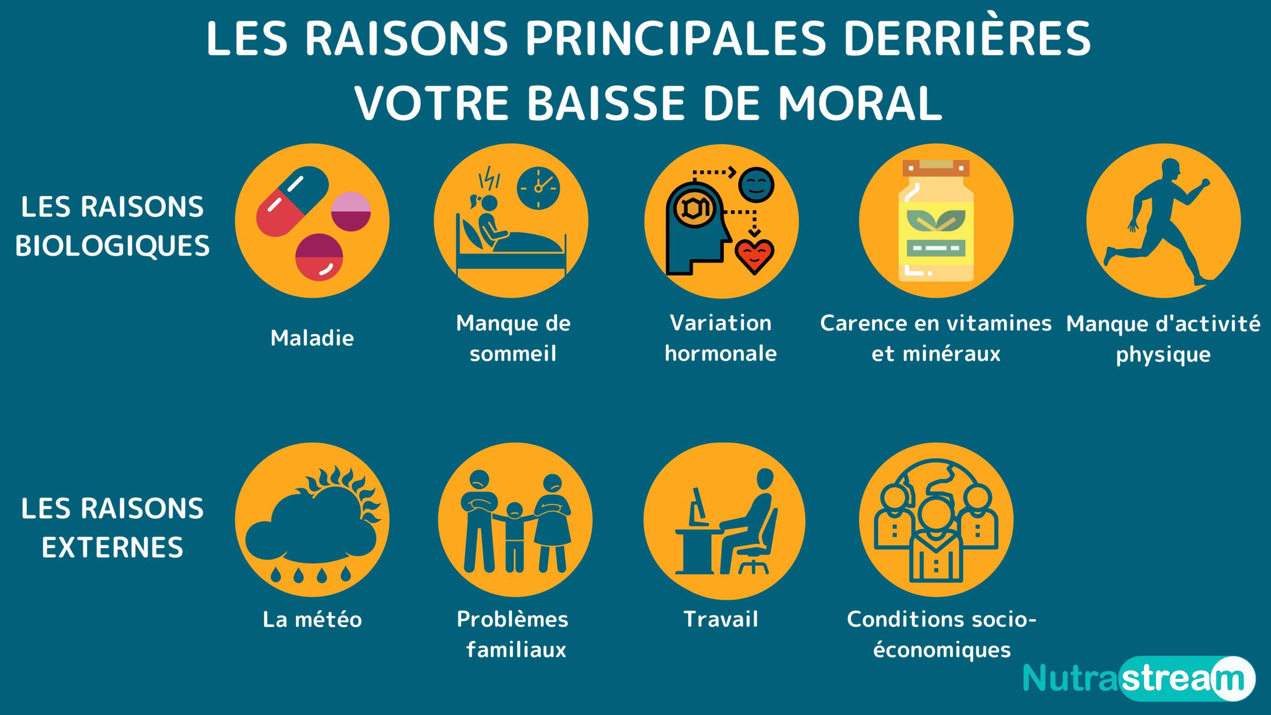 Les raisons intérieures et extérieures qui exploiquent une baisse de moral