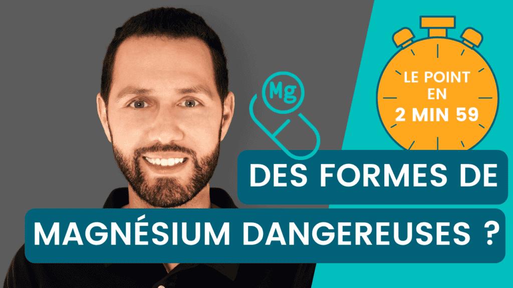 Chlorure et sulfate de magnésium, danger ? Le point en 2 minutes 59 avec Nutrastream